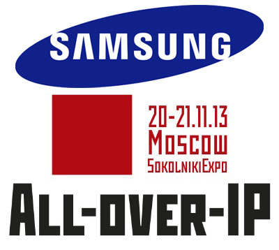 Samsung на выставке All-over-IP 2013